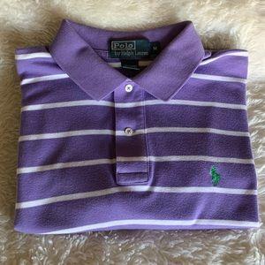 Men's Polo Ralph Lauren Purple/white shirt Size M